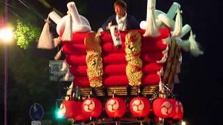神立、楽音寺、水越、大竹、千塚 5地区の太鼓台が松の馬場 鳥居へ集結す...