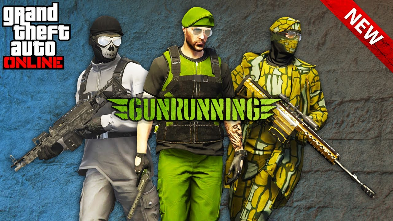 GTA Online TOP 3 GUNRUNNING OUTFITS! (GTA 5 BEST MILITARY OUTFITS) - YouTube