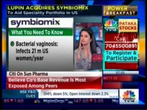 CNBC Power Breakfast 12 Oct 2017, Mr. Ramesh Swaminathan & Vinita Gupta - Lupin - Buys Symbiomix