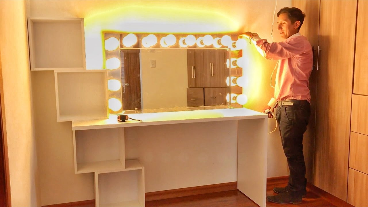 DIY VANITY MIRROR UNDER $150 IN ONE DAY! - YouTube