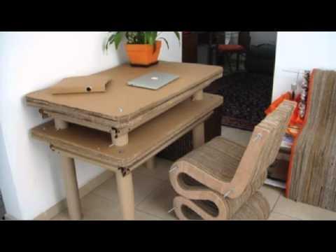 Mobiliario de cart n mediano youtube - Muebles de carton ...