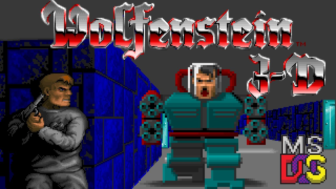 Wolfenstein 3d dos nostalgia youtube for Wolfenstein 3d