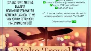 Do you love travel?✈🚢🚙 👥Do you know people who love to travel?? Are you the go to person when trips…