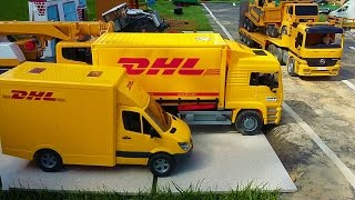 bruder dhl truck farm delivery for rc tractor