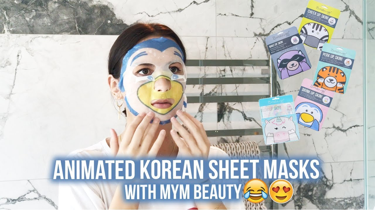 Amazing Animated Korean Sheet Masks with The Creme Shop | MYM Beauty