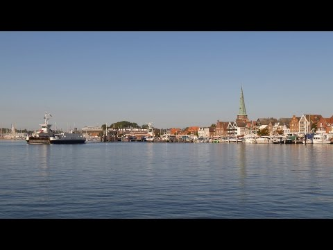 Travemünde, Germany: Trave, Harbor, Priwall Ferries (Priwallfähren) - 4K UHD Video Image