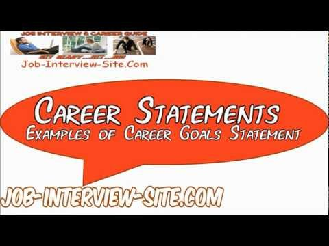 career statement examples of career objectives goals statement