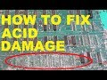 How to repair a battery damaged PCB
