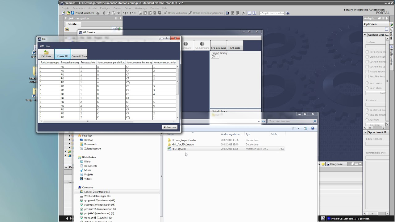 SPS / PLC Programm Generator für TIA Portal & automatische ...