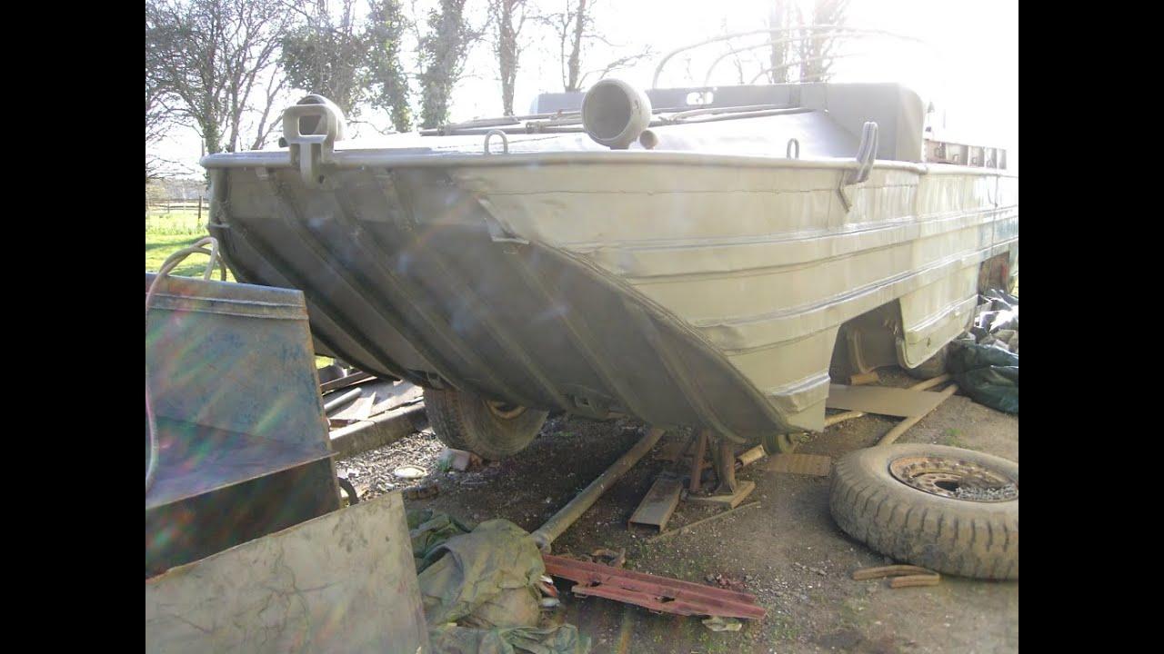 Amphibious Vehicle For Sale >> 1944 GMC DUKW Restoration/Rebuild Part 2 - YouTube
