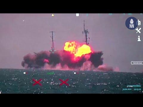 SINKEX: Turkey's Anti-ship Missile Atmaca Sinks a Ship in Final Test
