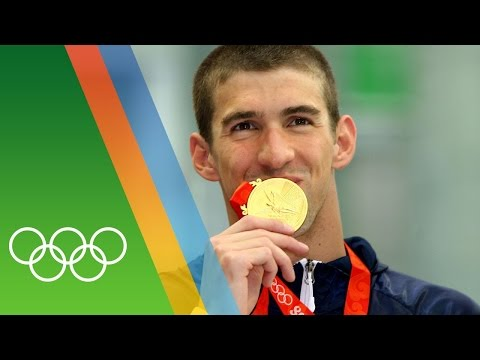 Michael Phelps' 8 golds at Beijing 2008   Epic Olympic Moments