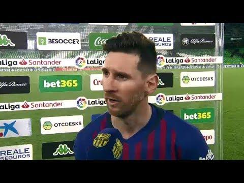 BETIS 1-4 BARÇA   Messi: 'Hemos hecho un partido perfecto'