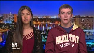 'We do have a right to go to school and not fear for our lives,' say Florida shooting survivors