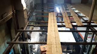 Видео обзор металлокаркаса под 2 этаж в производственном помещении 2 этап.