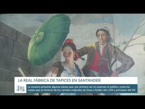 Exposición de la Real Fábrica de Tapices en Santander