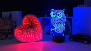 3D Ночник Зеркало / 3D Night Lamp Mirror / Tunnel Lamp / Night Light (Aliexpress)