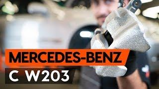 Kuinka korvata Takajarrusatula ja etujarrusatula MERCEDES-BENZ C-CLASS (W203) - opetusvideo