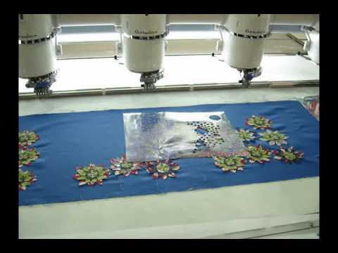 Laser bridge cut applique on embroidery machine youtube