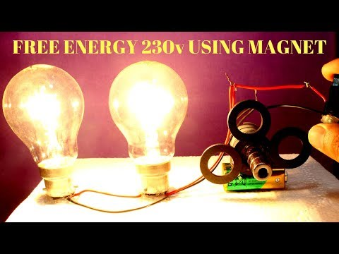 Free Energy Light Bulbs 230v Using Magnet And Two Bulbs - Free Energy Light Bulbs 230v