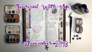 JOURNAL WITH ME   Travelers Notebook   November