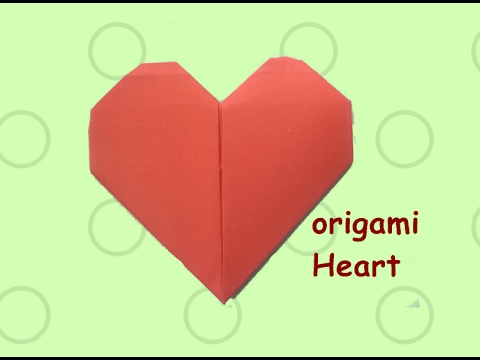 How To Make A Paper Heart Easy Origami Heart Valentines Day