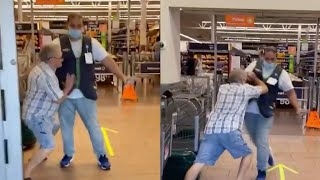 Florida man without mask fights his way into Walmart