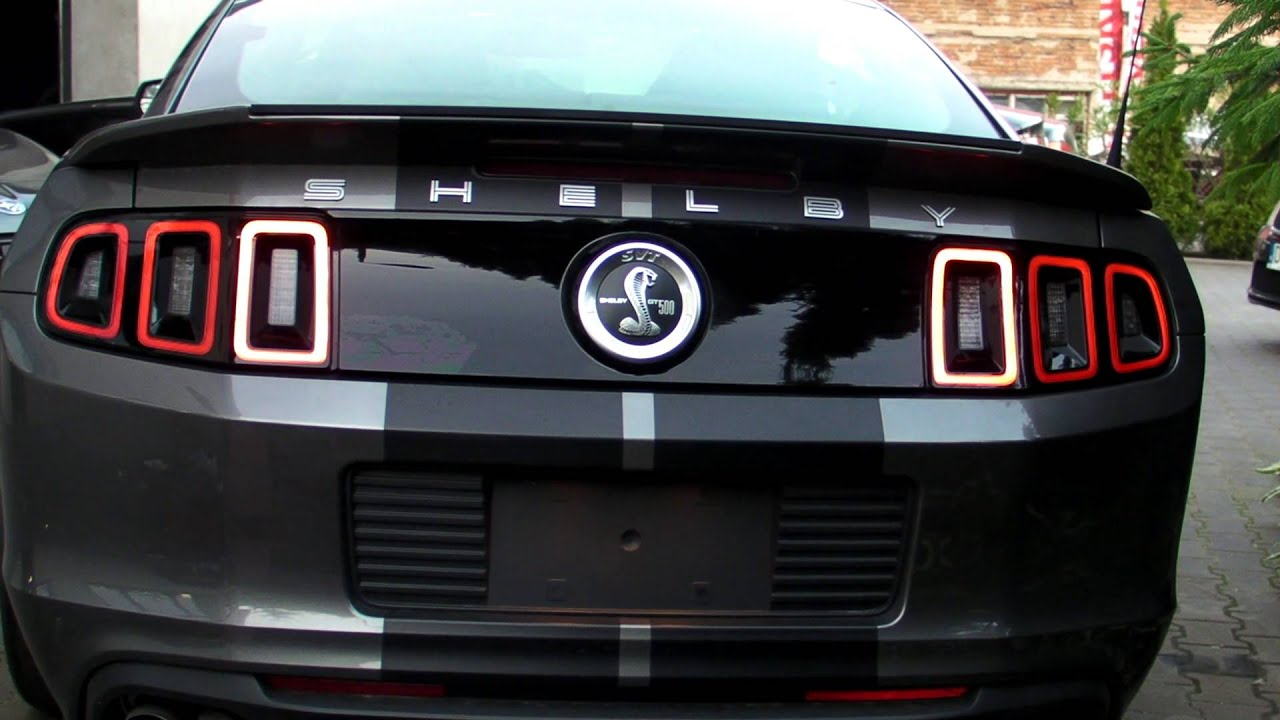 Mustang Shelby Gt 500 2013 European Sequential Tail Lights