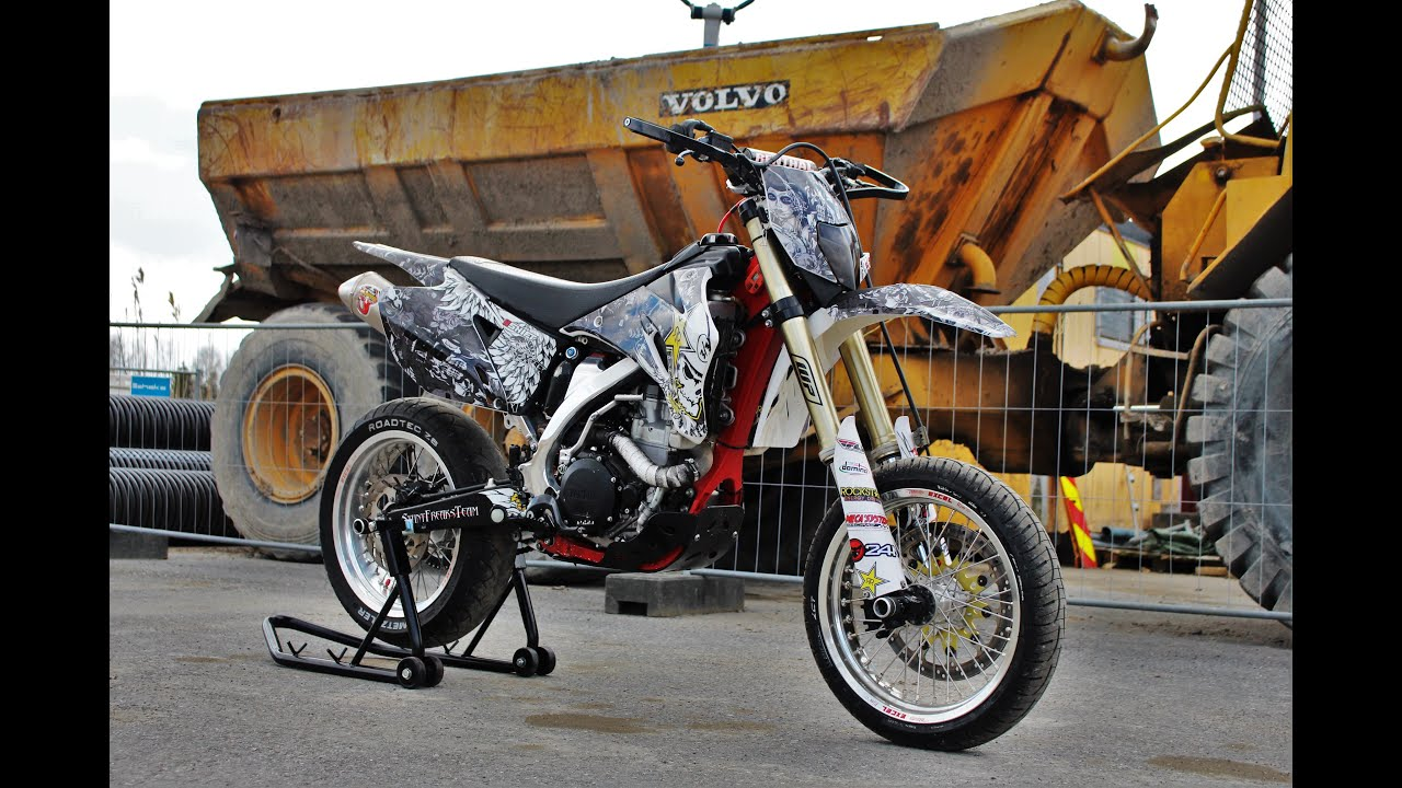 yamaha wr450 supermoto project youtube. Black Bedroom Furniture Sets. Home Design Ideas