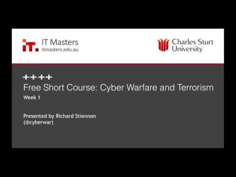 Free Short Course: Cyber Warfare and Terrorism Webinar #1 of 4