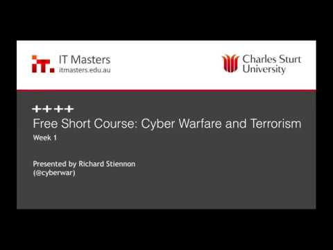 Free Short Course: Cyber Warfare and Terrorism Webinar #1 of 4