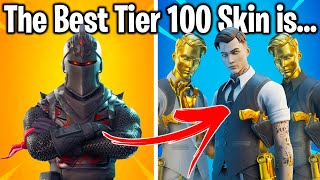 FORTNITE: RANKING EVERY TIER 100 SKIN FROM WORST TO BEST!