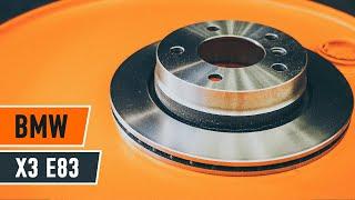 Как да сменим предни спирачни дискове и предни спирачни накладки на BMW X3 E83 [ИНСТРУКЦИЯ]