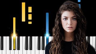 Download Lorde - Perfect Places - Piano Tutorial MP3 song and Music Video