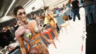 Bodypaint Artist Sophie Fauquet Perso at the MASKERADE in the Netherlands.
