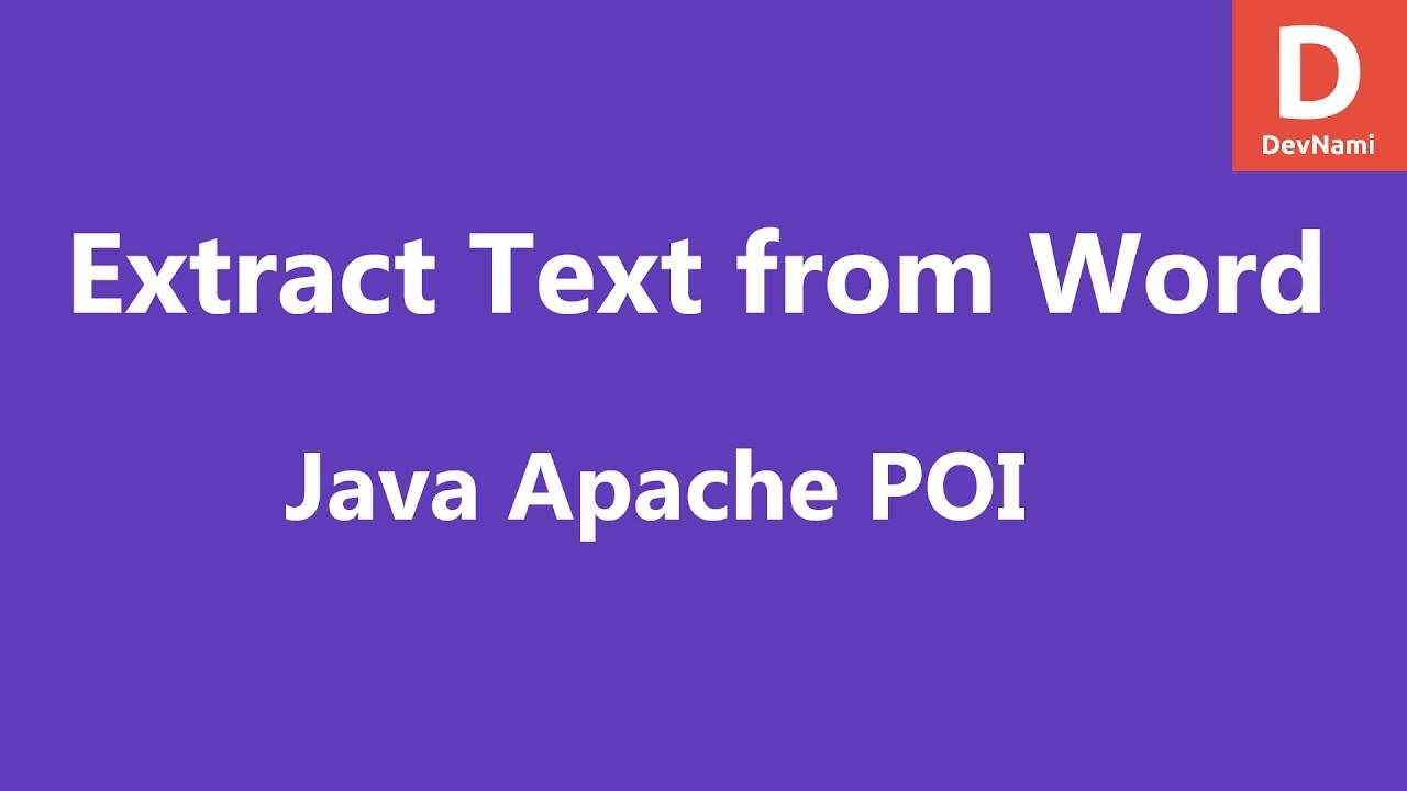 Java apache poi extract text from word document youtube for Java word documents