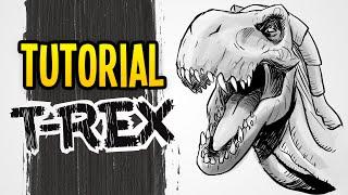 Como desenhar um T-REX! Tutorial