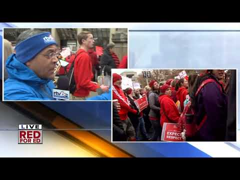Teachers Go 'Red For Ed' At The Indiana Statehouse