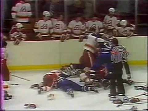 Toronto Maple Leafs - Atlanta Flames brawl 1979