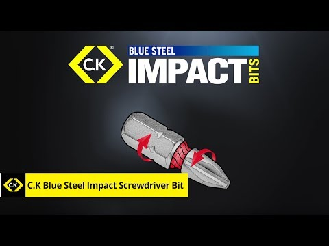 C.K Blue Steel Impact Screwdriver Bit