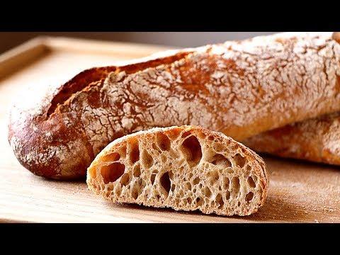 PAN de barra crujiente SIN AMASAR  - Receta FÁCIL para PRINCIPIANTES. Stirato bread