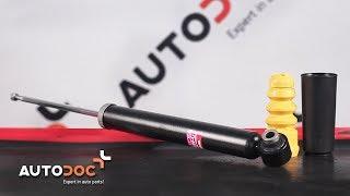 aizmugurē Amortizators montāža AUDI A4: video pamācības