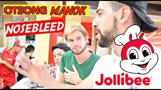 Ordering Jollibee in TAGALOG CHALLENGE!! Meeting REAL LIFE JOLLIBEE 😱