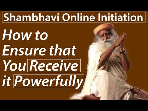 How to Ensure That You Receive Shambhavi Online Initiation Powerfully | Sadhguru Time