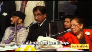 Ustad Amaan Ali & Ayaan Ali Bangash -- Sarod -- Part 1- The 136th Harivallabh 2011
