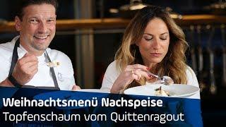 Weihnachtsmenü Nachspeise: Topfenschaum auf Quittenragout | ANTENNE BAYERN