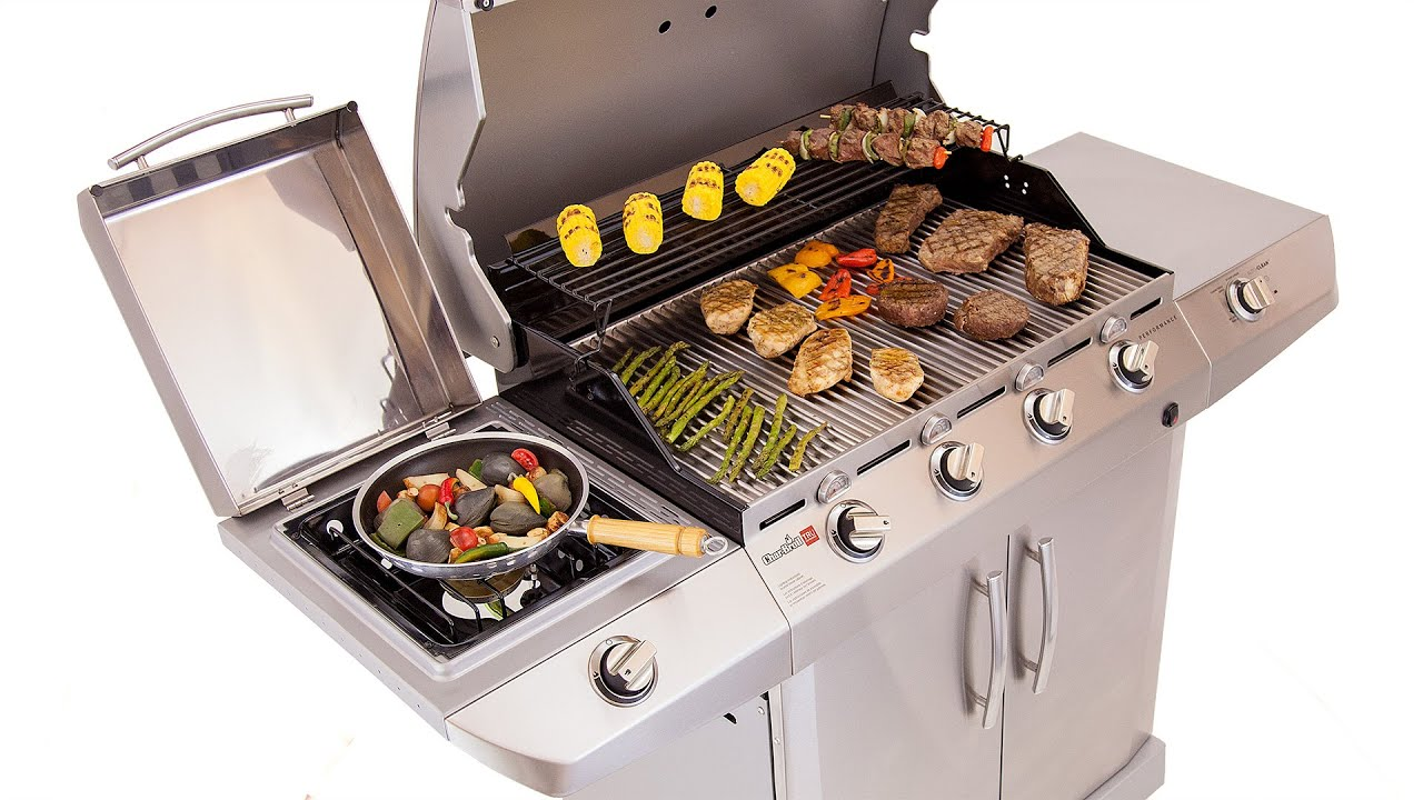 Dejlig Char-Broil Performance 4-Burner Gas Grill - Deluxe Stainless - YouTube XP-46
