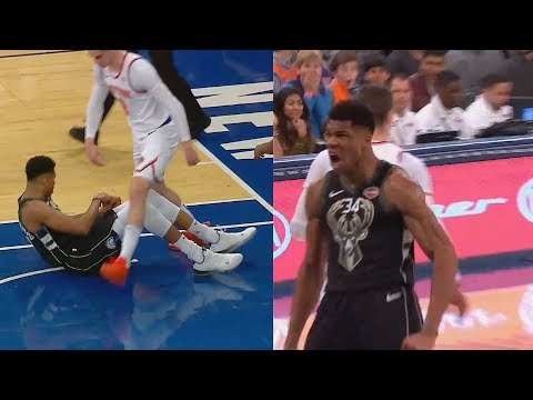 Giannis Gets Disrespected By Mario Hezonja By Getting Stepped Over After Dunk Then Gets Revenge!