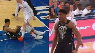 Giannis Gets Disrespected By Mario Hezonja By Getting Stepped Over After Dunk Then Gets Revenge! Video