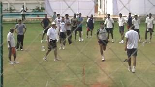 Munaf Patel Bowling in the Nets | MRF Pace Foundation
